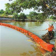 水库挂网式拦污浮排