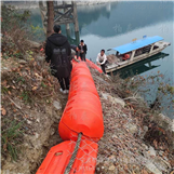 大坝前自动升降式拦漂装置浮筒式拦污排
